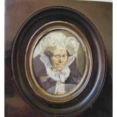Miniature d'Une Dame  Vers 1830