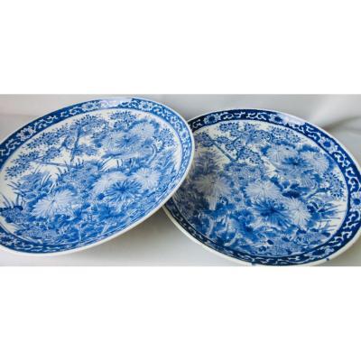 Paire De Plats XIXème En Porcelaine De Chine .
