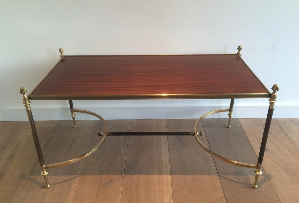 table basse structure m tal bross laiton et bronze plateau en bois tables basses. Black Bedroom Furniture Sets. Home Design Ideas