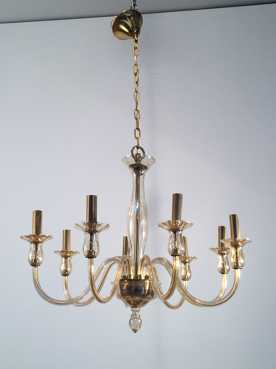 Murano Glass Chandelier. Circa 1960