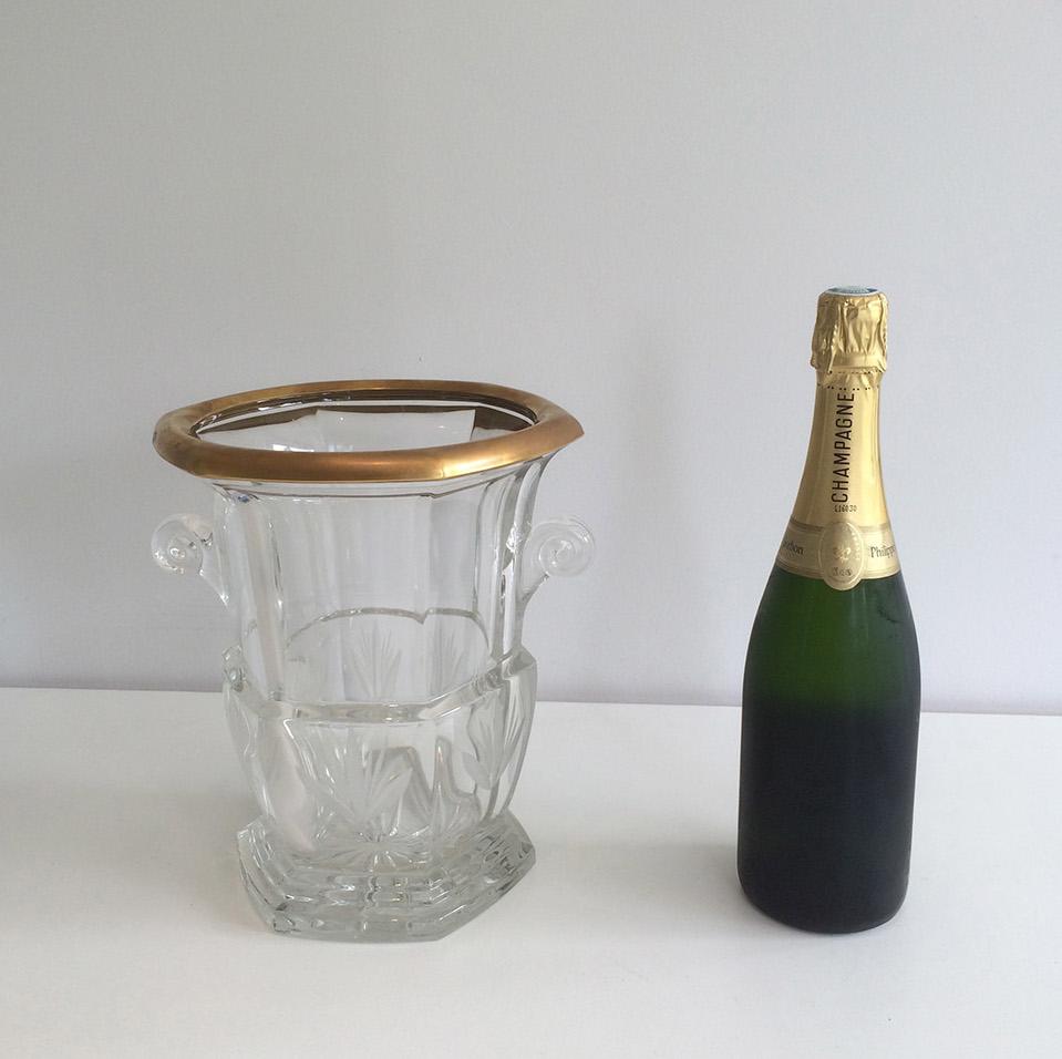 Seau à Champagne En Cristal Vers 1940.-photo-2