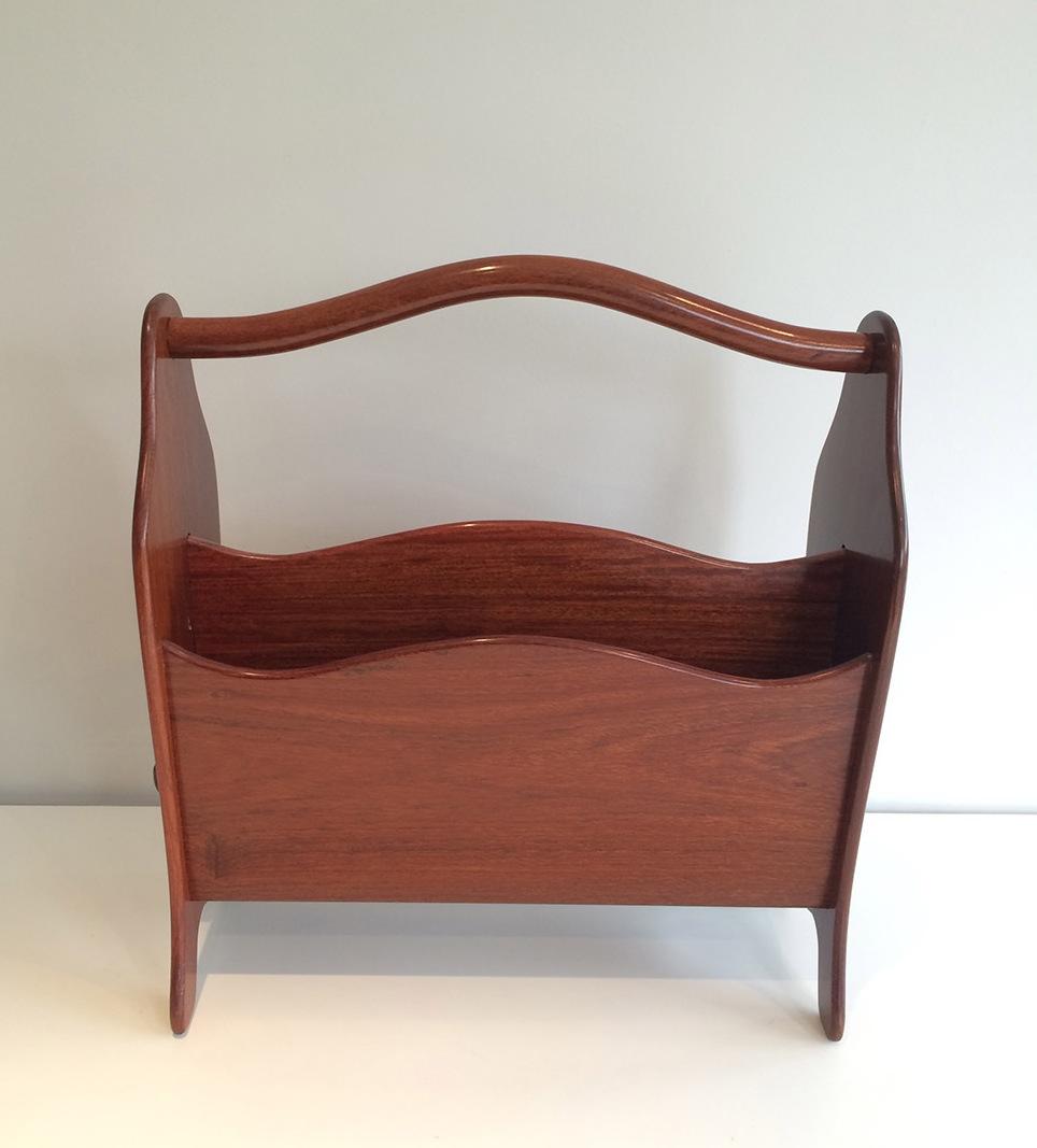 porte revues scandinave en teck vers 1970 objets de d coration. Black Bedroom Furniture Sets. Home Design Ideas