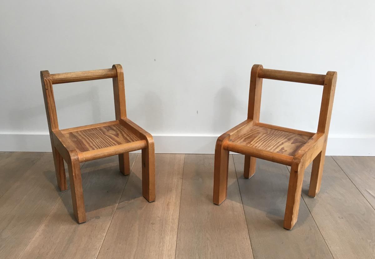 Pair Of Small Children's Chairs. Around 1970