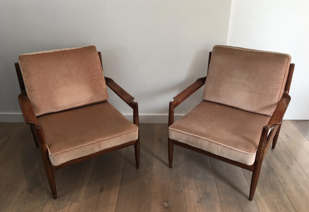 Pair Of Scandinavian Armchairs. Marqués.