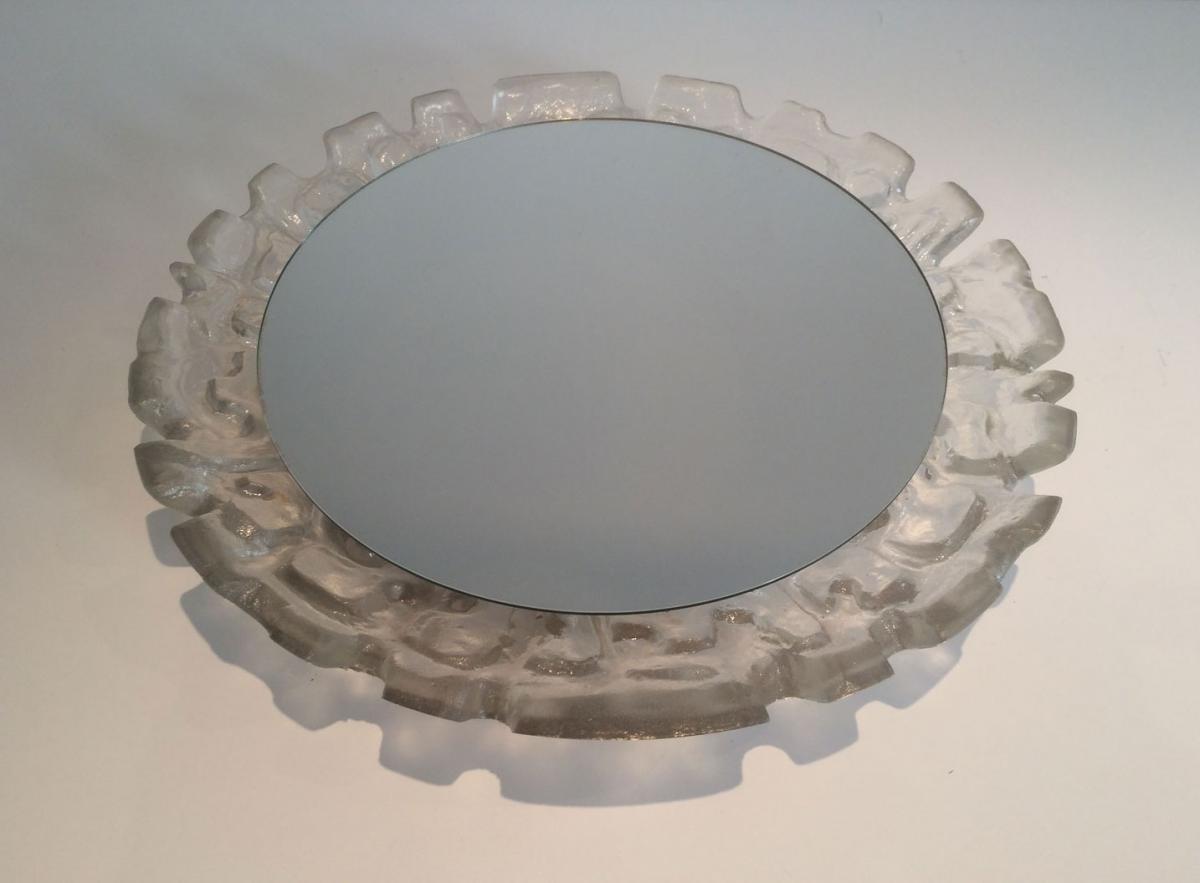 Miroir Eclairant En Plastic Moulé. Vers 1970