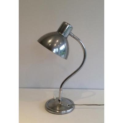 Swinging Chrome Lamp. Circa 1960