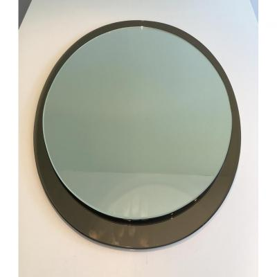 Attributed To Fontana Arte. Grand Mirror Oval. About 1970