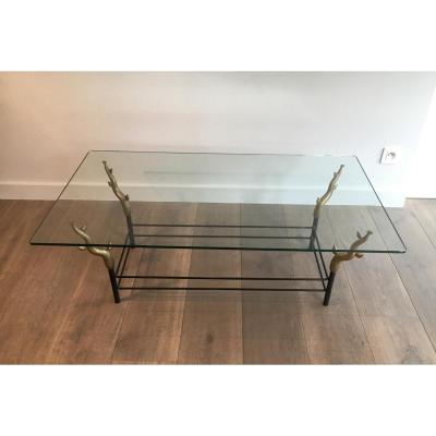 Le In The Style Of Garouste Et Bonetti. Wrought Iron And Bronze Coffee Table Represent
