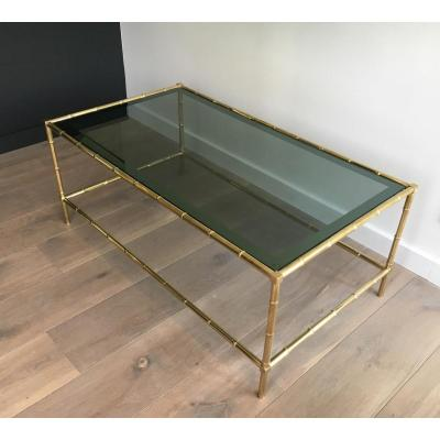 Coffee Table Faux-bamboo Way Brass.