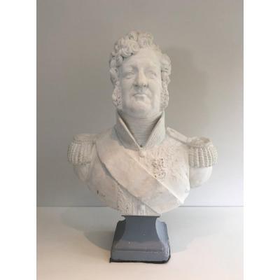 Important Buste En Plâtre Représentant Louis-philippe. Vers 1880