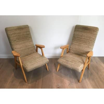 Pair Of Vintage Armchairs. French. Circa 1970