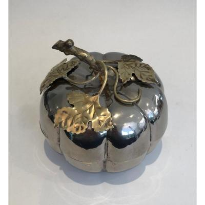 Silver Plated Apple Ice Bucket. French. Circa 1970