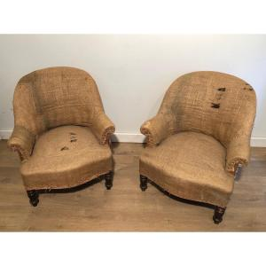Pair Of Napoleon The 3d Armchairs