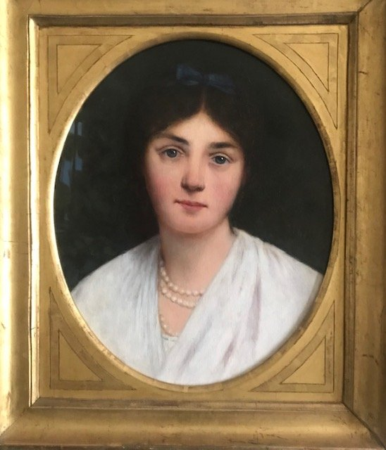 Portrait Of A Woman Oil On Canvas Signed Marguerite Dupuy 19th Century