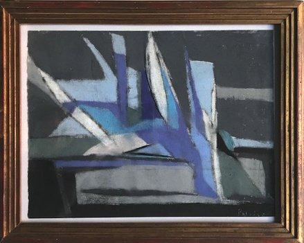 Abstrait, Pastel  Signé Patrick Jordan Dit Patrice, XXème Siècle
