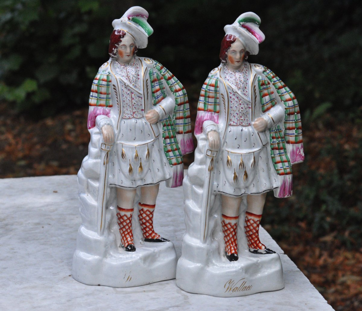 Sir William Wallace Pair Of Figures In Staffordshire Circa 1880 England XIXth Century