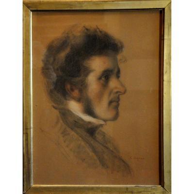 Portrait Of A Man Signed Auguste Legras 19th Century