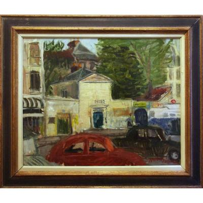 Circulation, Oil On Canvas Signed Paul Hubay 20th Century