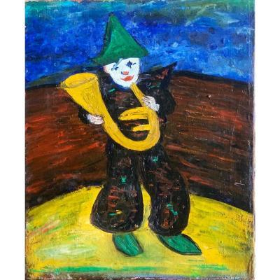 Le Clown Blanc Huile Sur Toile Circa 1940