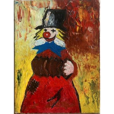 Auguste Ou Le Clown Maladroit Huile Sur Toile Circa 1940