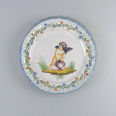 Roanne Faience Plate, 18th Century