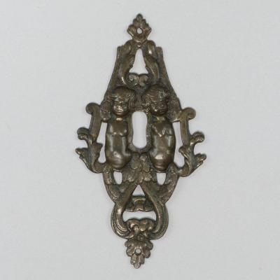 Entrée De Serrure En Bronze, XVIIe Siècle