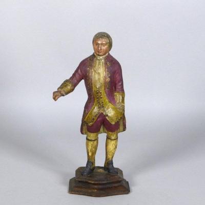 Statuette En Papier Mâché, XVIIIe Siècle