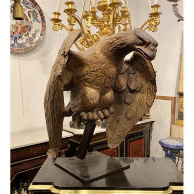 Aigle en fer doré XVIIIème siècle