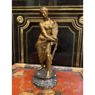 Bronze doré  «allégorie de la musique «XVIIème siècle