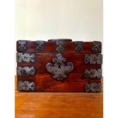 Small Box In Violet Wood Veneer, Louis XIV Period