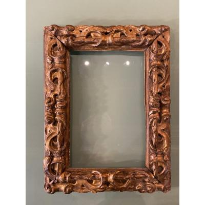 17th Century Gilded And Carved Wood Frame