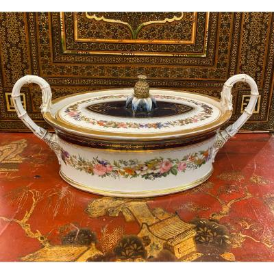 Sucrier en porcelaine de Sèvres , époque Charles X