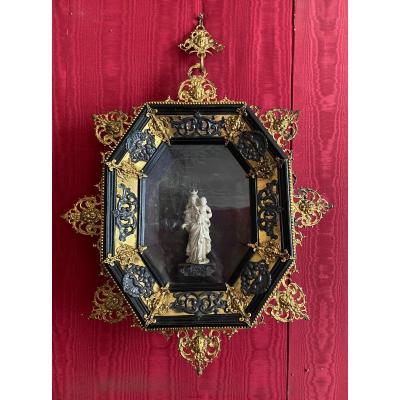 Frame With Gilded Bronze And Silver Ornamentation Forming A Display Case, 17th Century