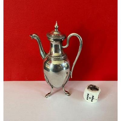 Very Small Egoist In Solid Silver Empire Period, Ht: 11.6cm