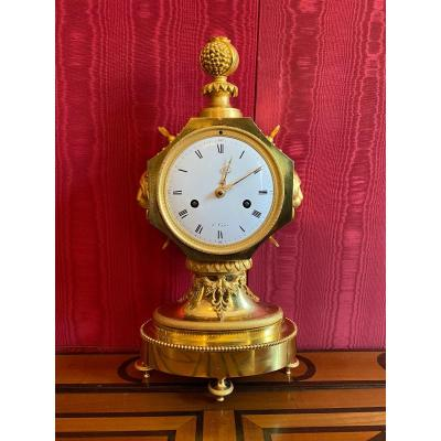 Turkish Gilt Bronze Clock, Directoire Period