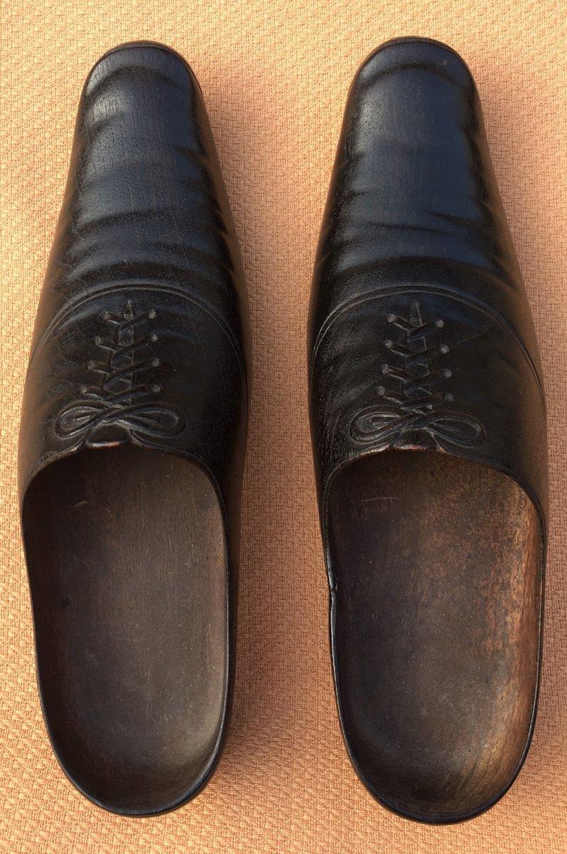 Paire De Sabots En Trompe l'Oeil De Chaussures XIXème