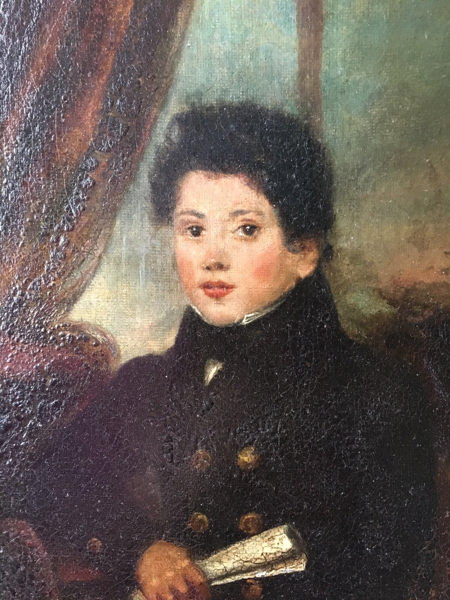 Tableau Portrait De Jeune Homme XIXème