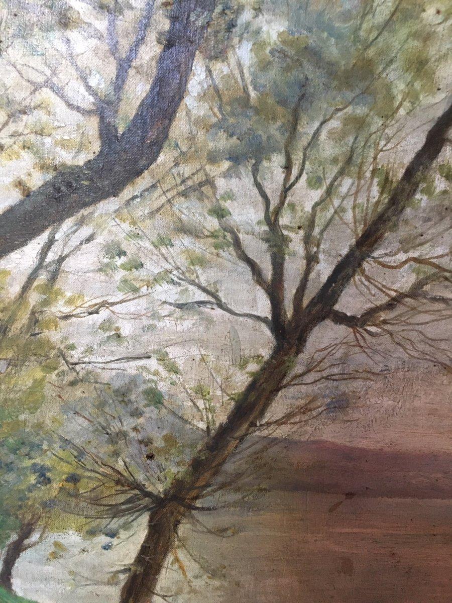 Landscape Painting Signed L.lallemand-photo-3