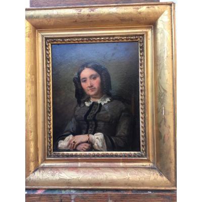 Tableau Portrait Jeune Fille De Emilie Leleux