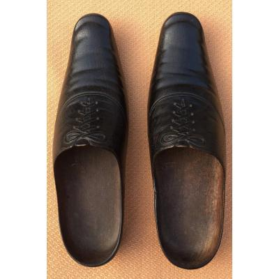 Pair Of Clogs In Trompe l'Oeil Of Shoes XIXth