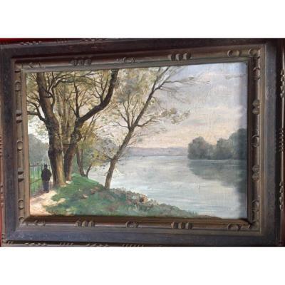 Landscape Painting Signed L.lallemand