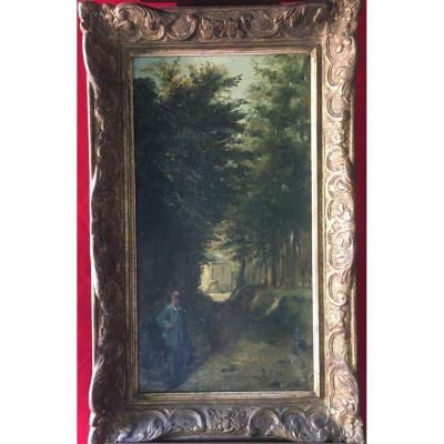 Landscape Painting Signed Jouclard Adrienne