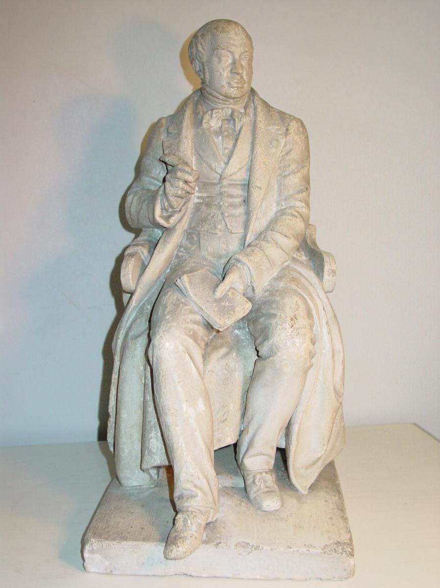 Pierre Hébert Sculpture En Plâtre 19ème Monument Disparu à Orange Comte De Gasparin