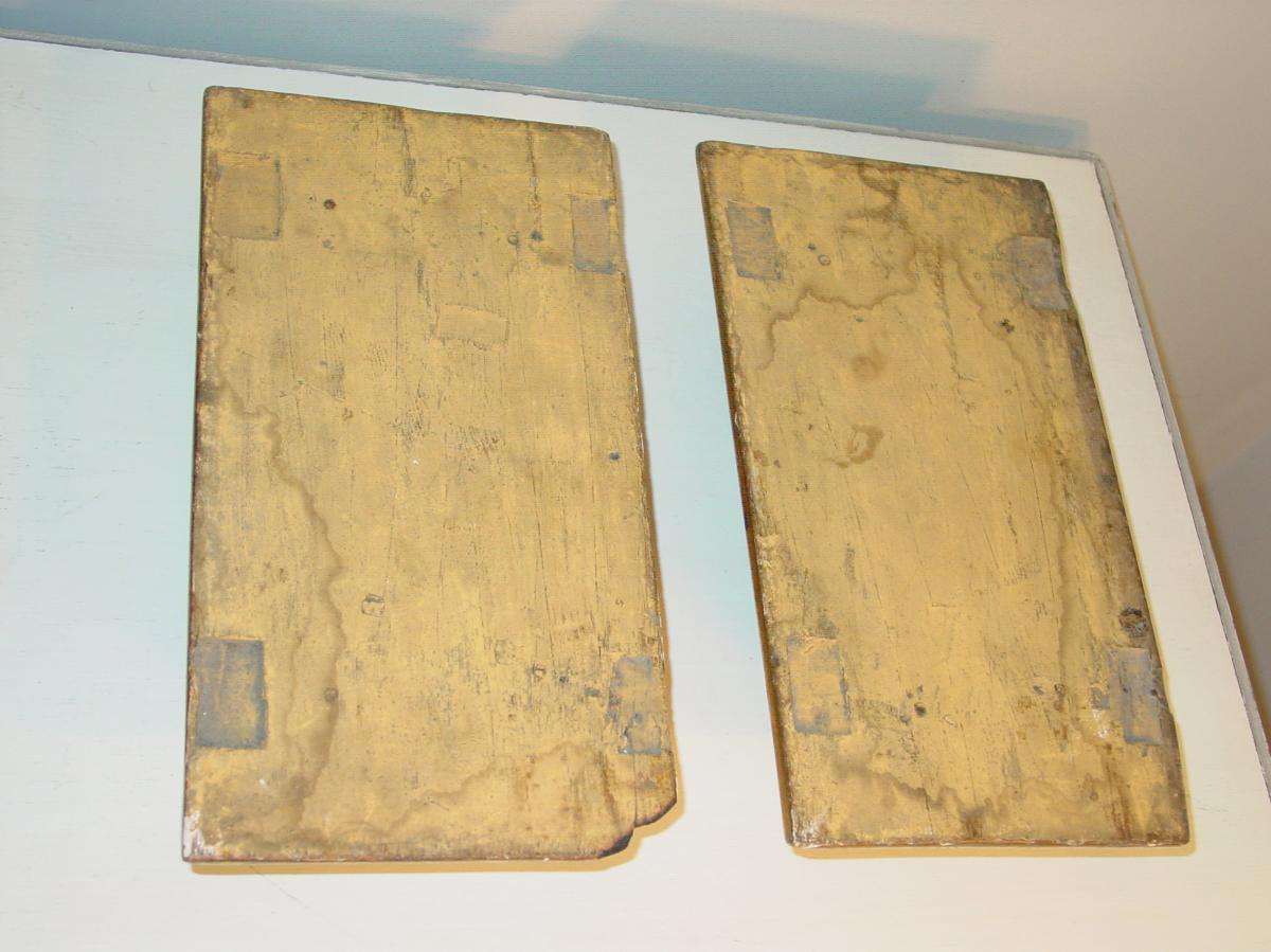 Pair Of Pedestals In Golden Wood 1830-photo-2