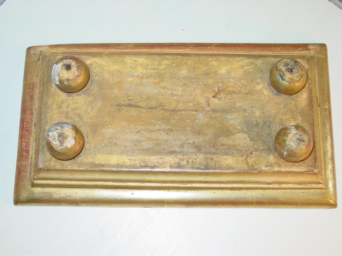 Pair Of Pedestals In Golden Wood 1830-photo-3