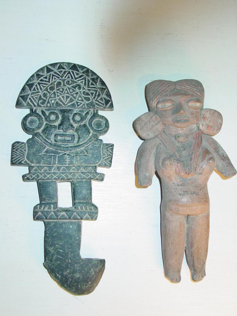 2 Sculptures Rituelles  Pré-colombiennes Anciennes