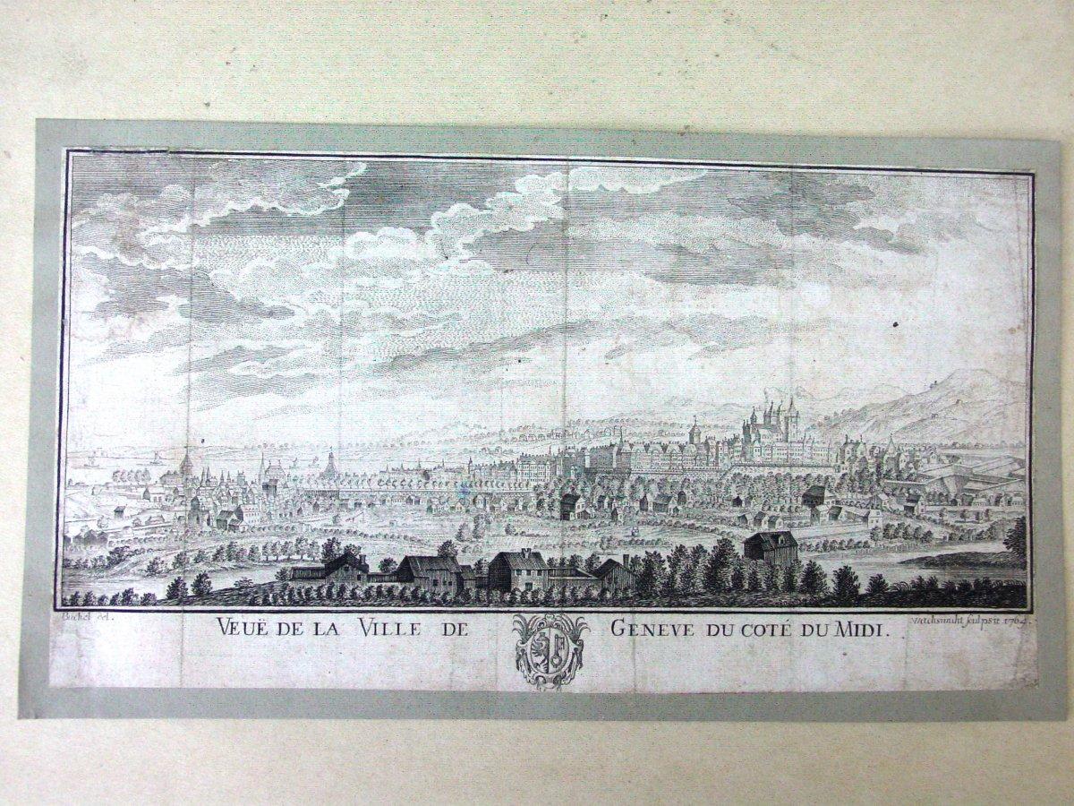 1764 - Vue Panoramique De Genève Par J. Wachsmuth d'Aprés  E. Büchel