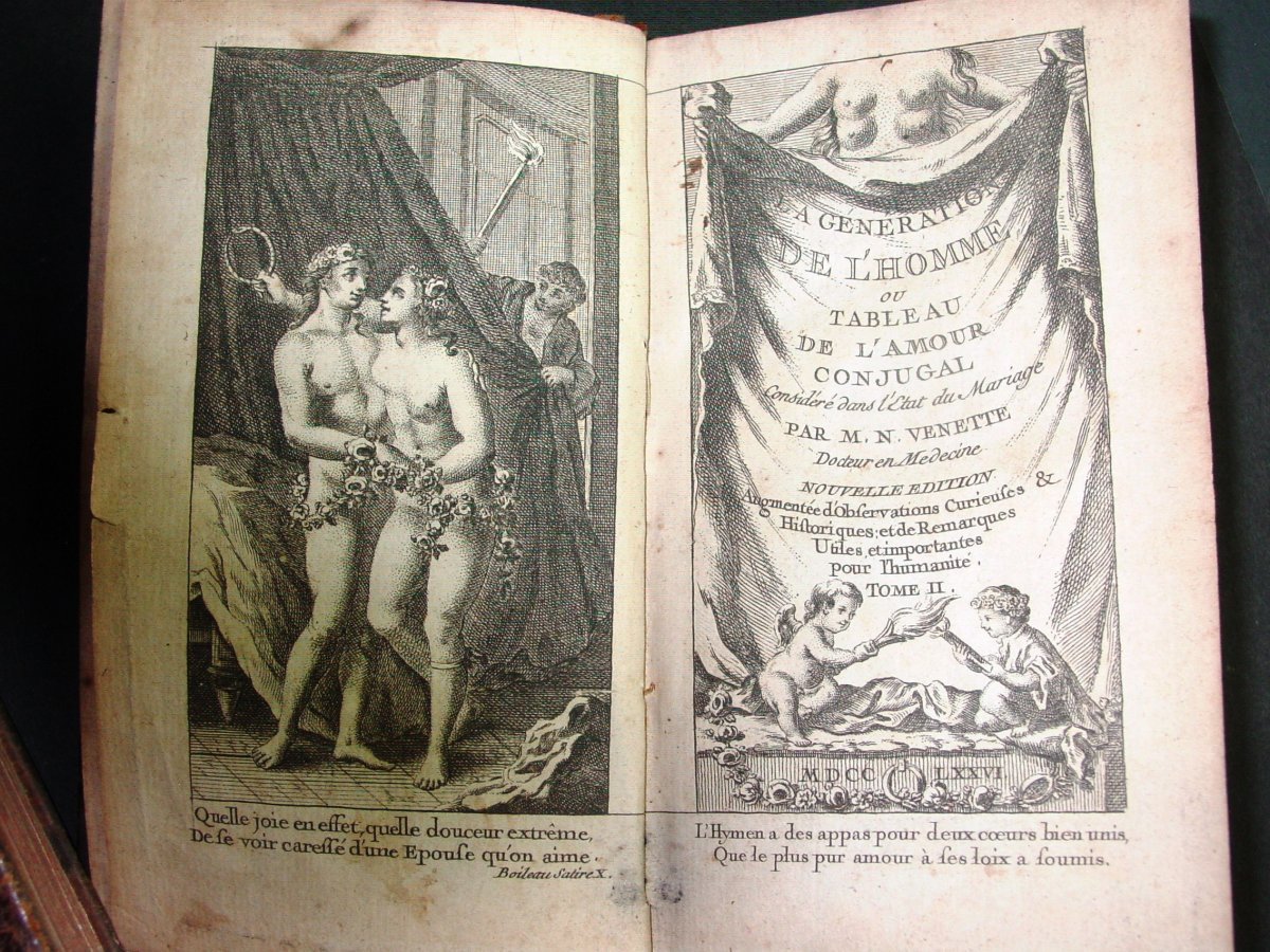 1776 By Venette: The Generation Of Man Or Table Of Conjugal Love Tome Ii