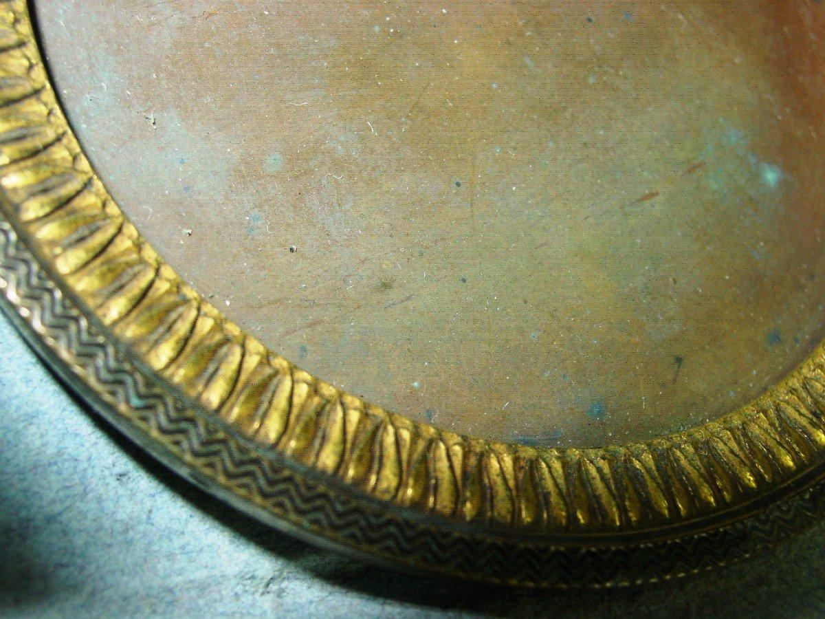 Cadre Epoque Empire Pour Miniature En Bronze Doré-photo-2
