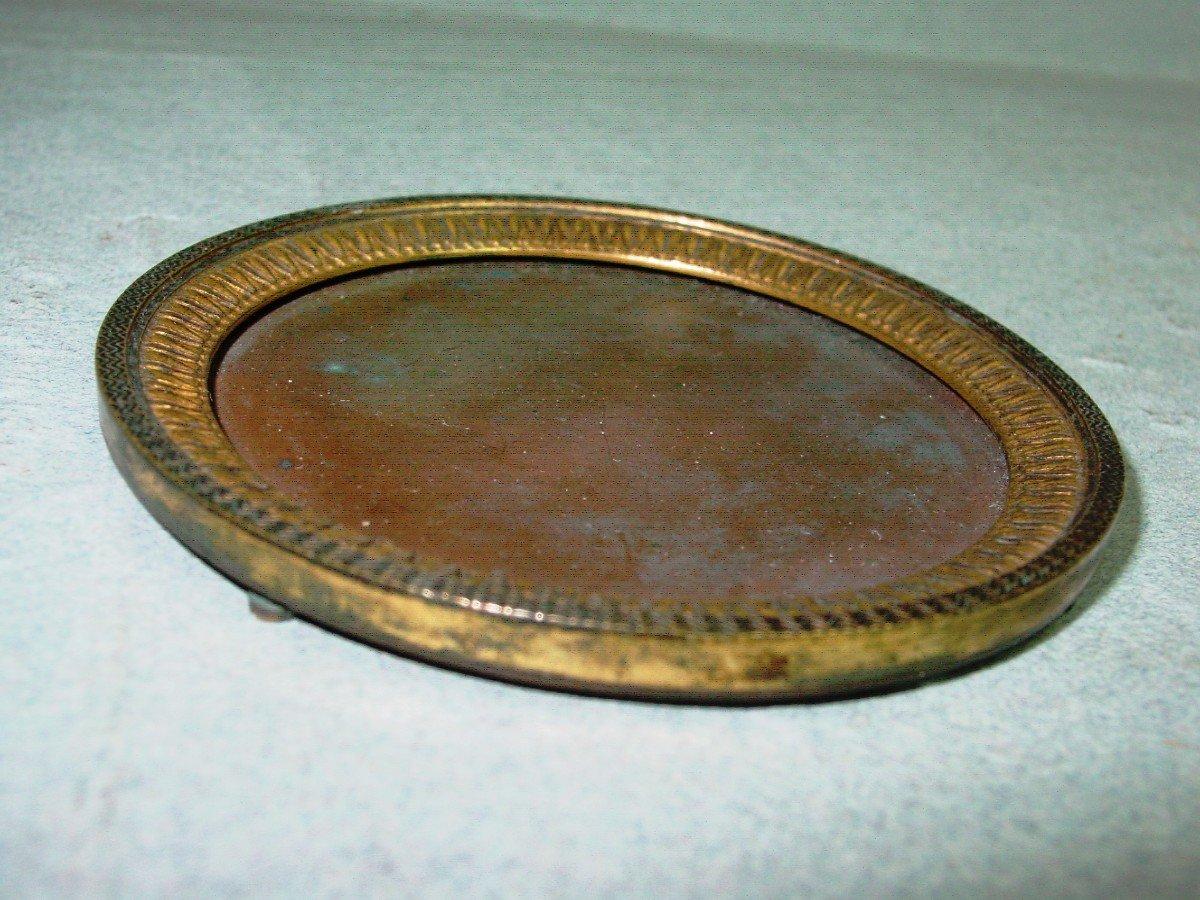 Cadre Epoque Empire Pour Miniature En Bronze Doré-photo-1
